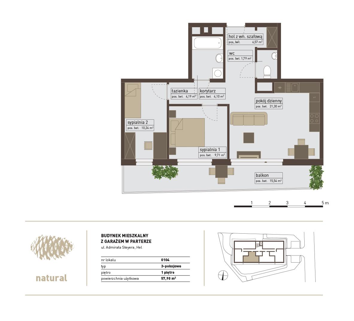 rzut Apartament 104 – Sprzedany