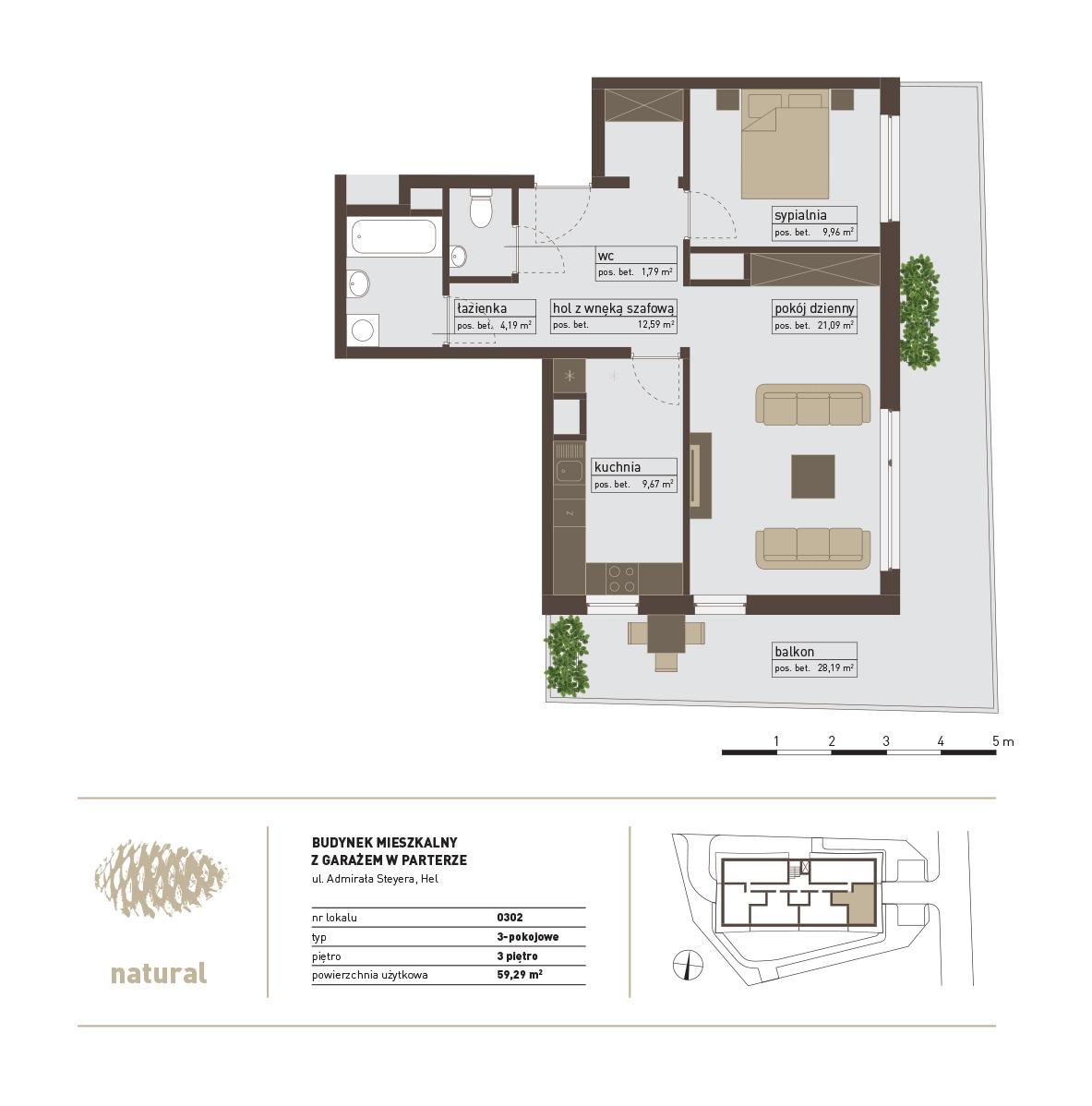 rzut Apartament 302 – Sprzedany
