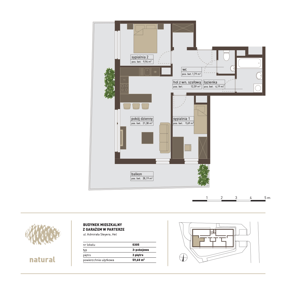 rzut Apartament 305 – Sprzedany