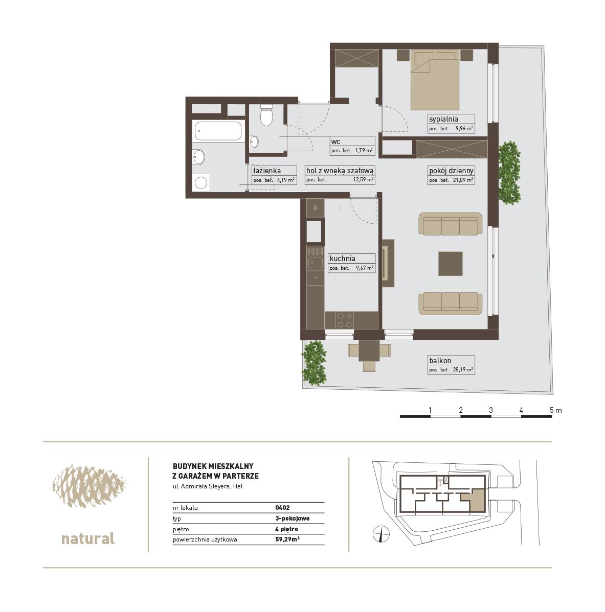 rzut Apartament 402 – Sprzedany
