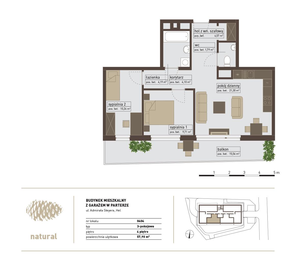 rzut Apartament 404 – Sprzedany