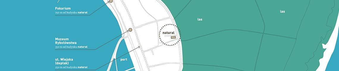 Natural hel -  lokalizacja na Półwyspie Helskim.