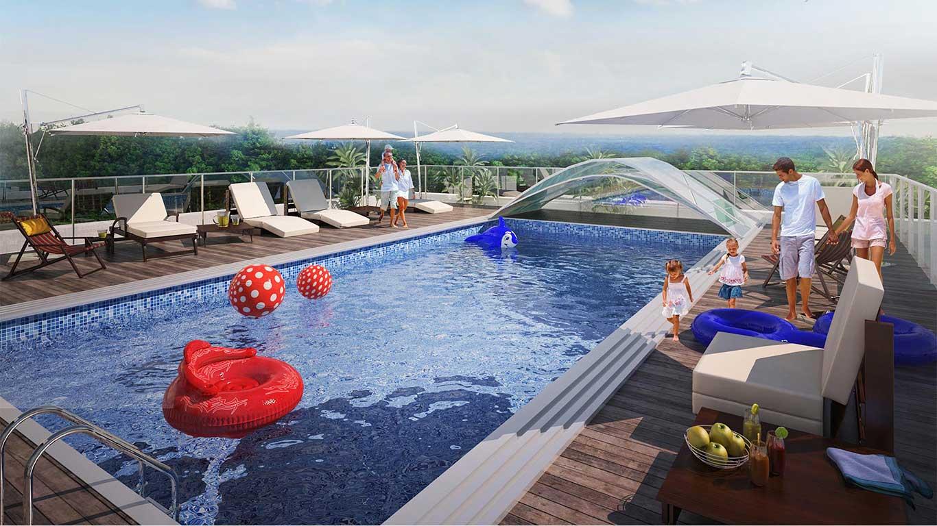 NaturalHel - Apartamenty z basenem na dachu