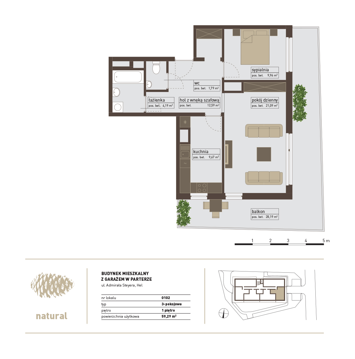 rzut Apartament 102 – Sprzedany